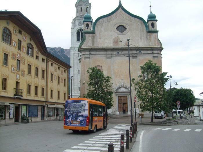 La chiesa parrocchiale di Cortina d'Ampezzo