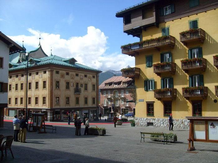 Il centro storico di Cortina