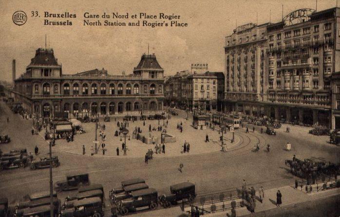 Cartolina di Bruxelles degli anni Trenta