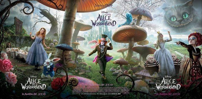 La locandina del film, Alice nel paese delle meraviglie