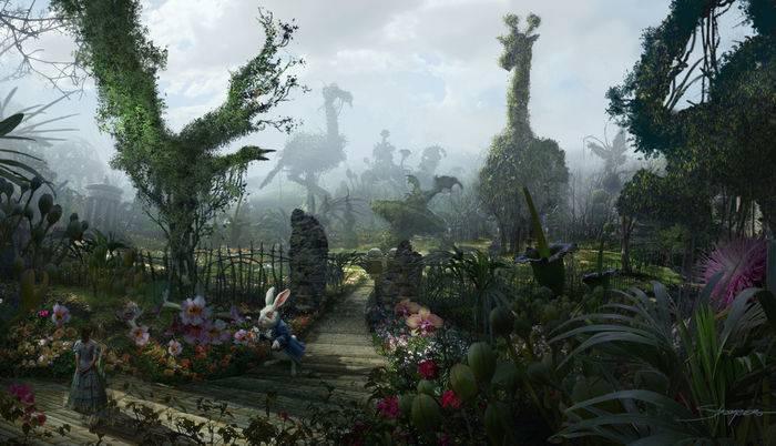 Alice nel paese delle meraviglie, una scena del film di Tim Burton