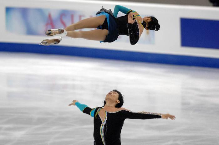 La coppia campione di cinesi Pang e Tong