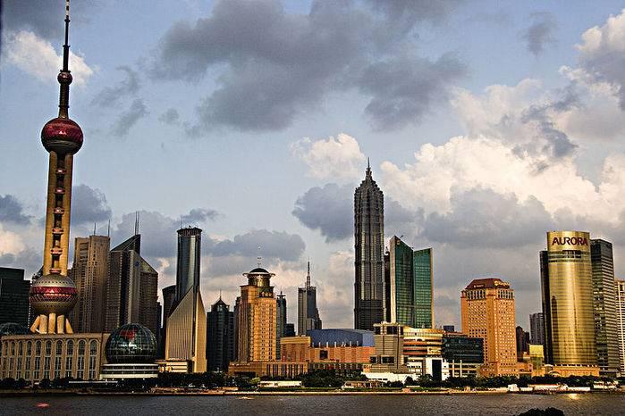 Shanghai, i grattacieli di Pudong.