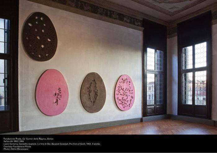 Fondazione Prada: Concetto spaziale. La fine di Dio, Lucio Fontana 1963
