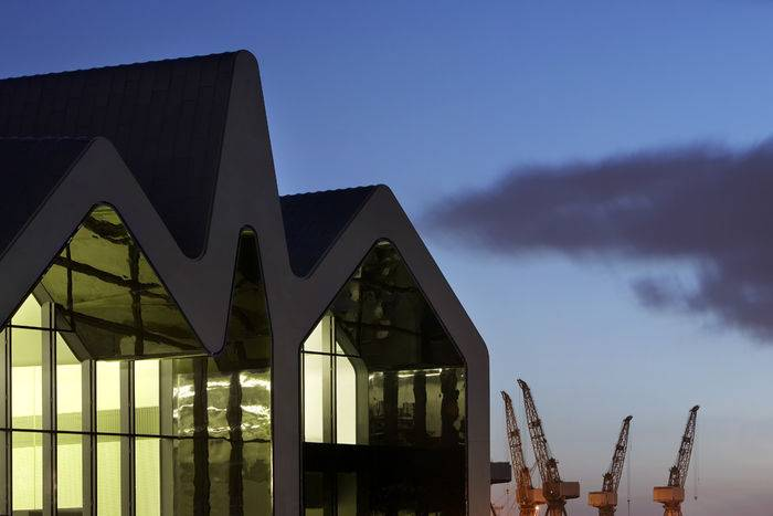 Il Riverside Museum di Glasgow progettato da Zaha Hadid