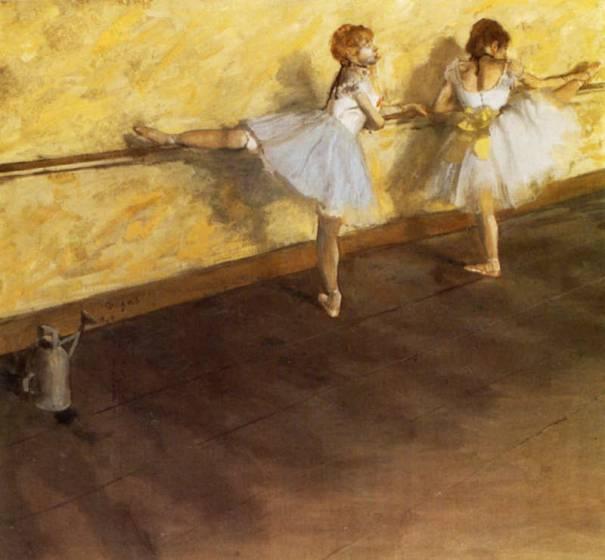 Edgar Degas, Due ballerine alla barra