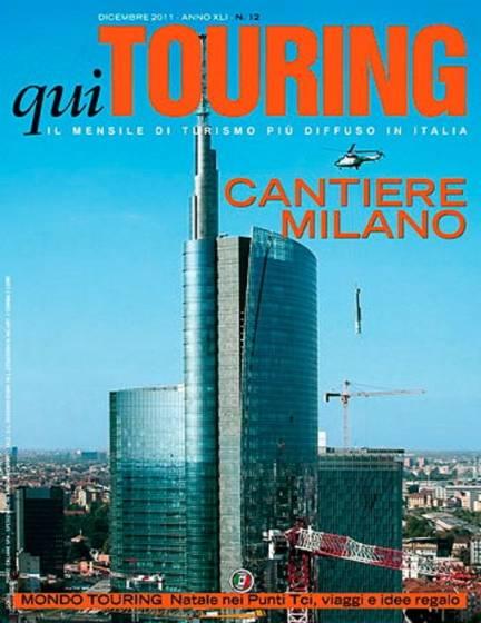 La copertina di Qui Touring di dicembre con Cantiere Milano. © L. De Simone.