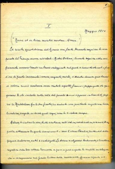 Manoscritto del Gattopardo - Giuseppe Tomasi di Lampedusa