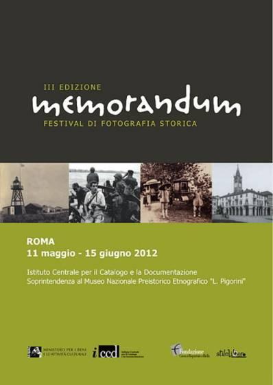 La locandina di Memorandum, il festival di fotografia storica