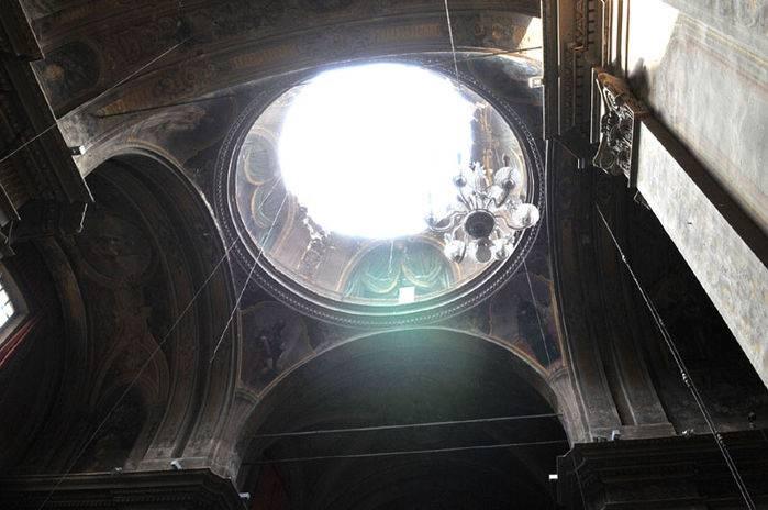 La Collegiata di Santa Maria Maggiore dopo il terremoto