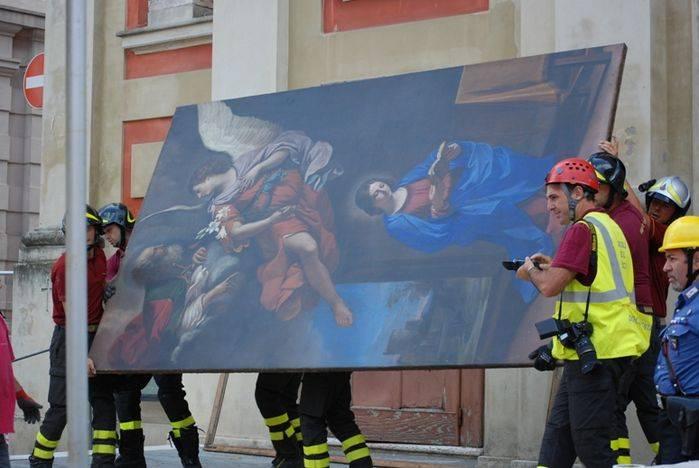 Il salvataggio del capolavoro del Guercino