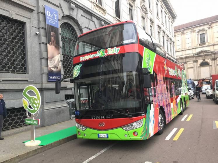 Debutta a Milano il bus turistico green