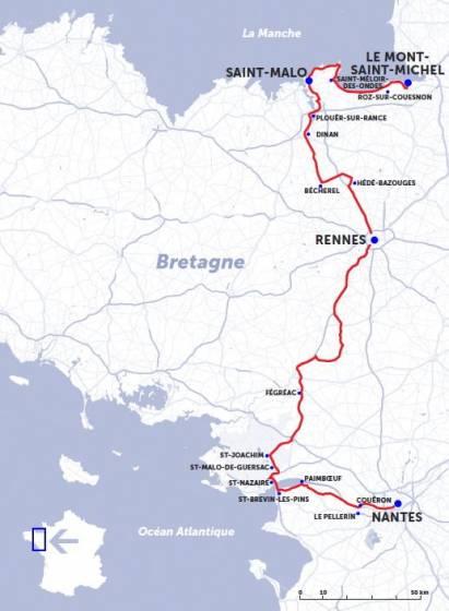 Cartina Nord Francia.Itinerario In Francia Da Nantes Fino A Le Mont Saint Michel