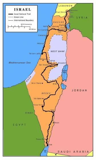 Cartina Fisica Dell Israele.A Piedi Sull Israel National Trail Introduzione E Consigli Per L Uso 2 Di 6 Touring Club