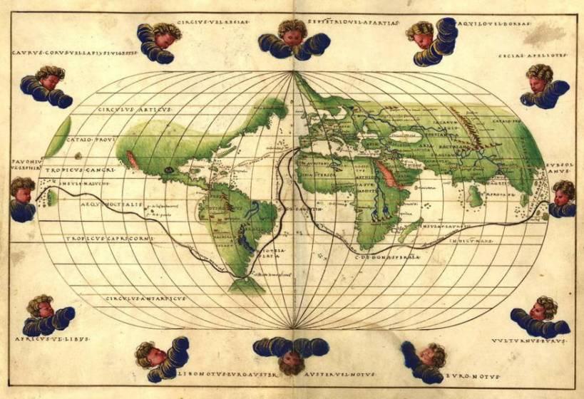 Cartina Mondo Touring.L Incredibile Storia Di Magellano Che Cinquecento Anni Fa Scopri Il Passaggio Tra Atlantico E Pacifico 4 Di 5 Touring Club