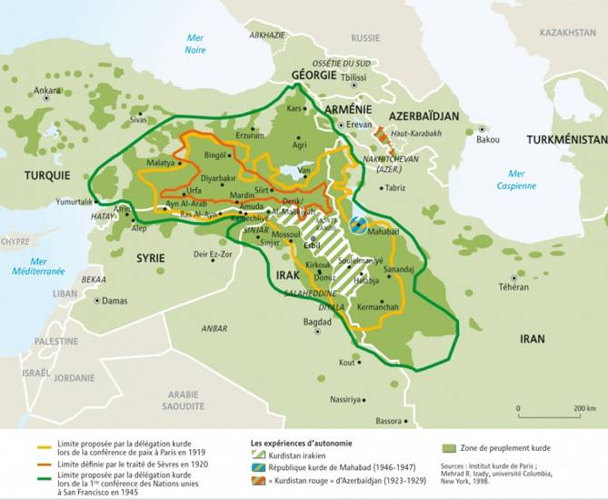 Cartina Kurdistan.Chi Sono I Curdi E Dove Vivono 2 Di 6 Touring Club