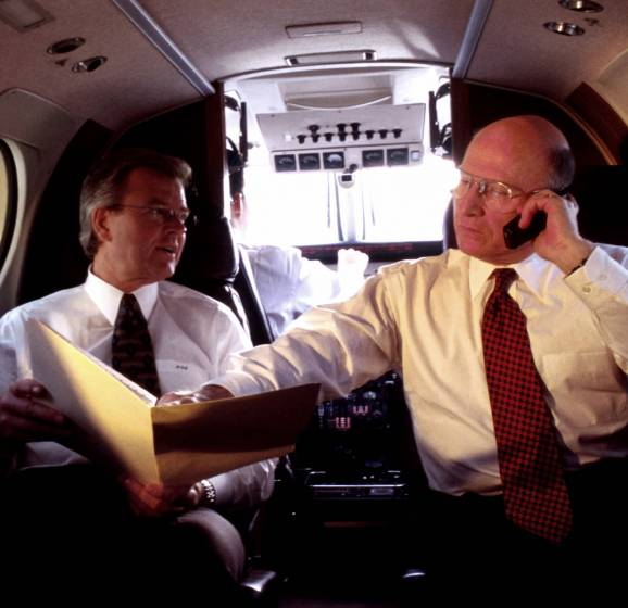 Telefonata su jet privato
