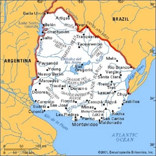 Mappa Uruguay