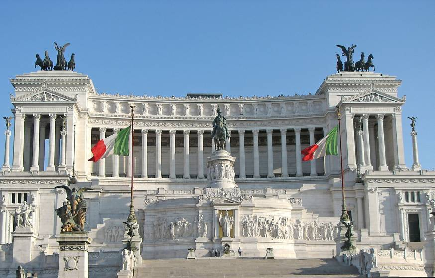 Il Vittoriano a Roma.