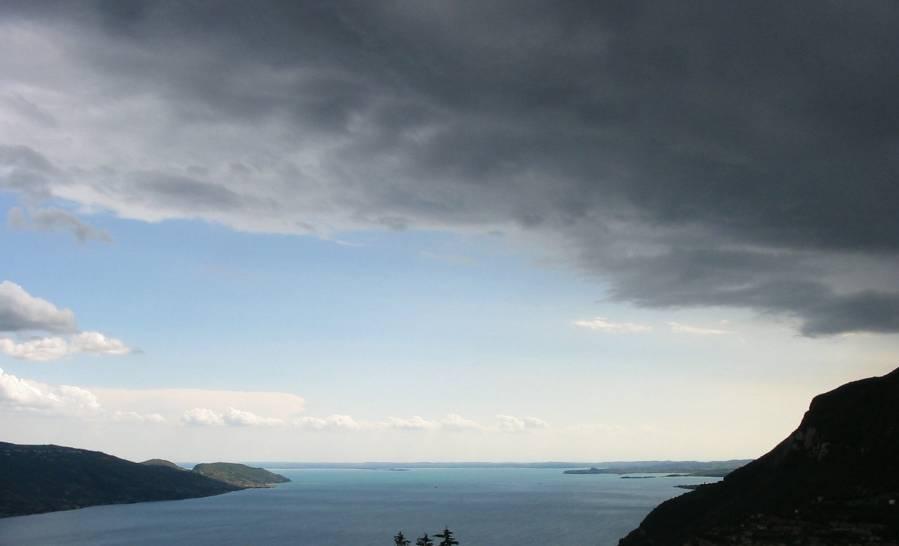 prima della tempesta sul  Garda