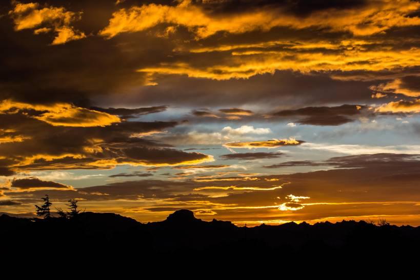 tramonto dal