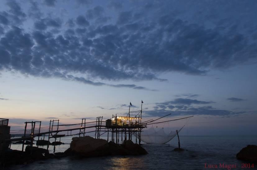 Trabocco al tramonto