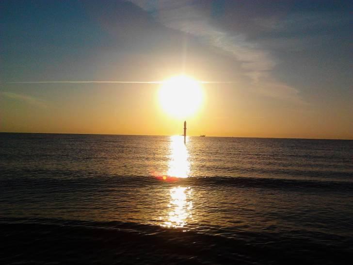 Alba sul mare di Cesenatico