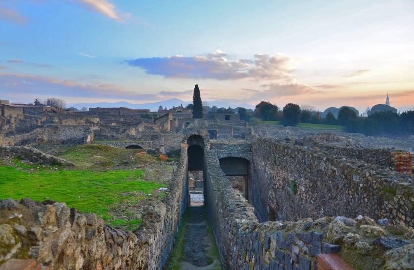 Pompei, veduta dal Teatro Grande.