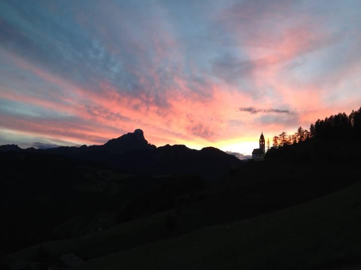 Tramonto infuocato sulle Dolomiti