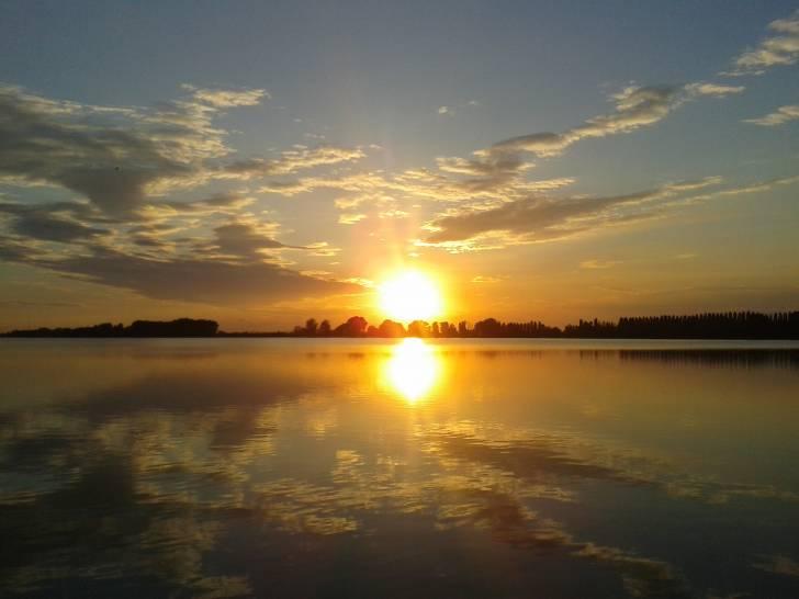 Tramonto sui laghi di Mantova