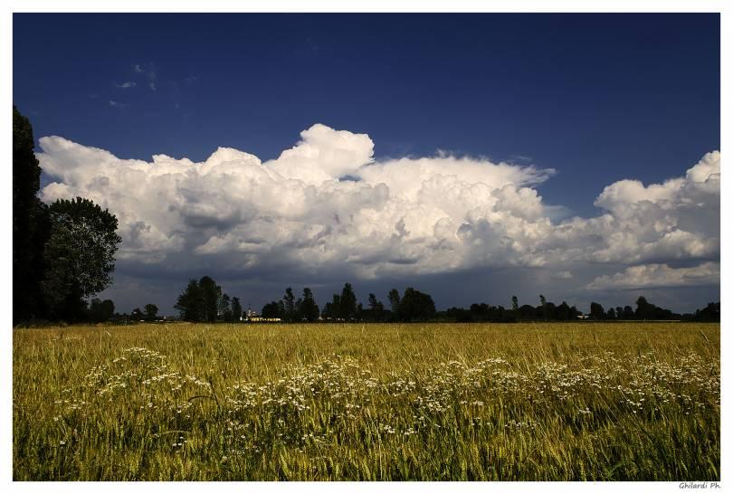 Nubi sulla campagna Cremasca