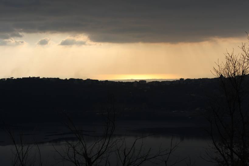 giornata uggiosa a Castel Gandolfo