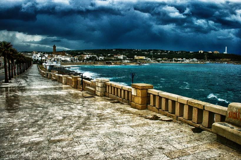 Un giorno di straordinaria tempesta a Santa Maria di Leuca