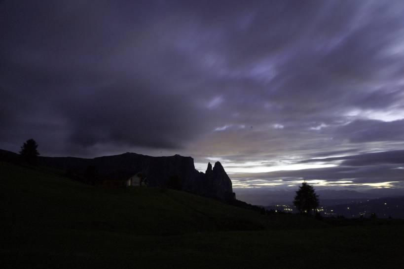 Crepuscolo sull'Alpe di Siusi