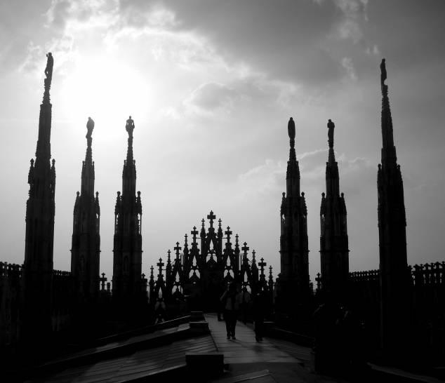 Tra le guglie... Milano.