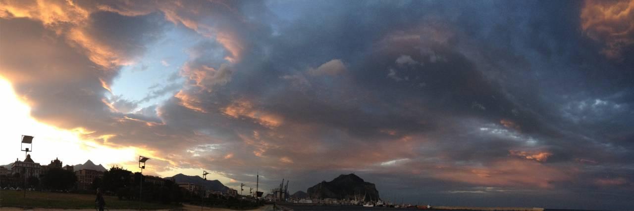 Il cielo sopra Monte Pellegrino
