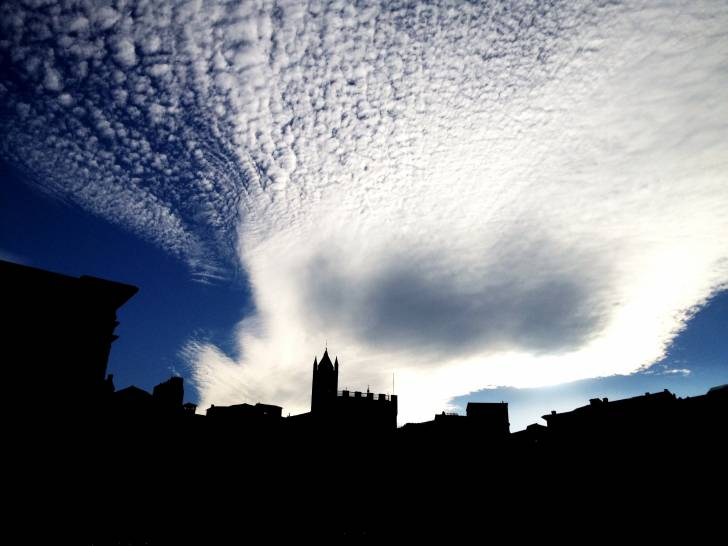 Il cielo su piazza del Campo - Siena