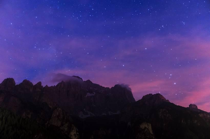 Monte Civetta sotto le stelle