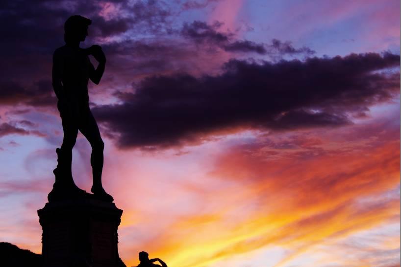 David al tramonto