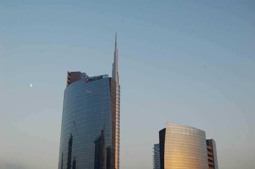 Tramonto nei grattacieli