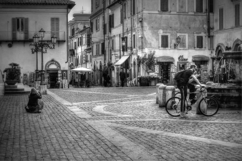 la fotografa e il ciclista