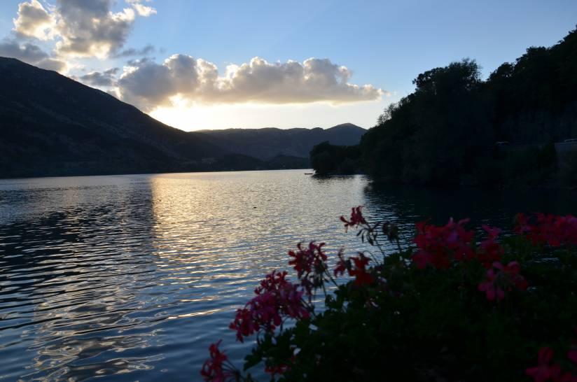 Tramonto sul lago di Scanno