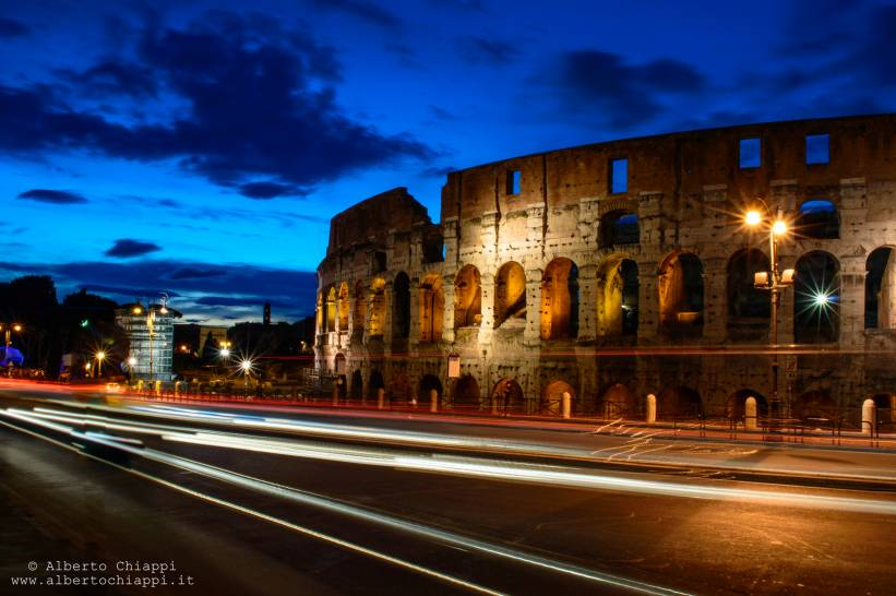 Blue Sky Colosseo by night