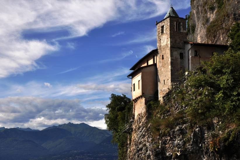 Il cielo dell'eremo di Santa Caterina del Sasso