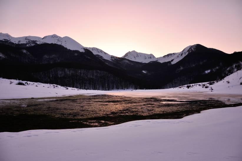 Tramonto invernale sul Meta