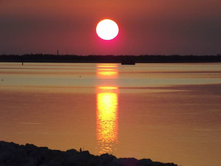 Un tramonto in silenzio..a Porto Levante
