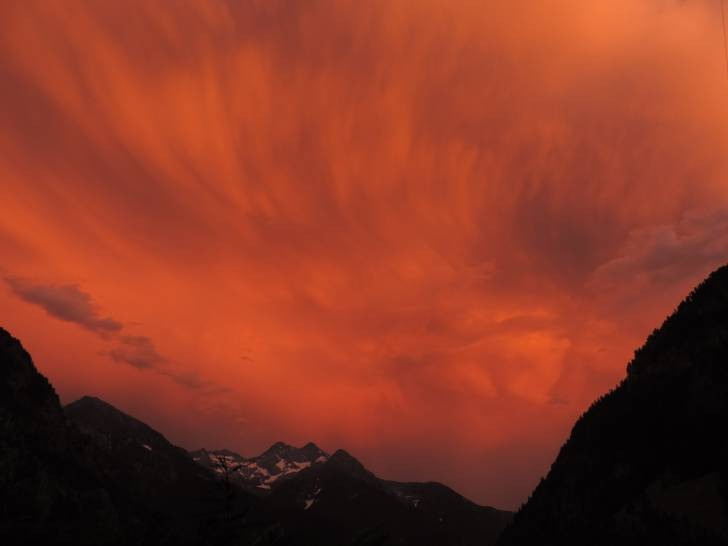 tramonto in alta quota