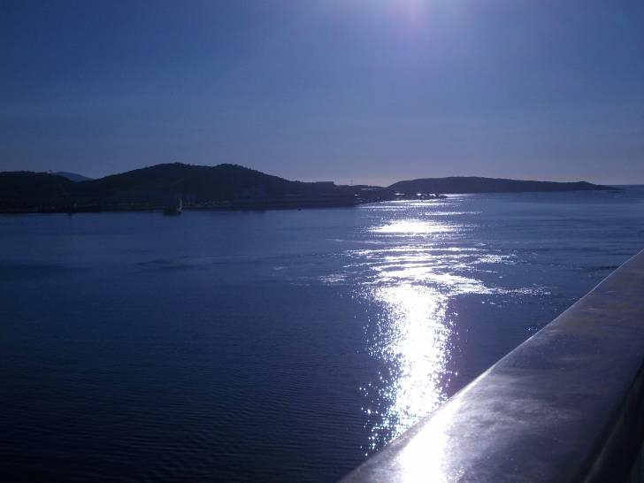 riflesso sul mare di sardegna