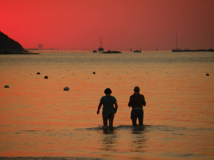 tramonto in baia