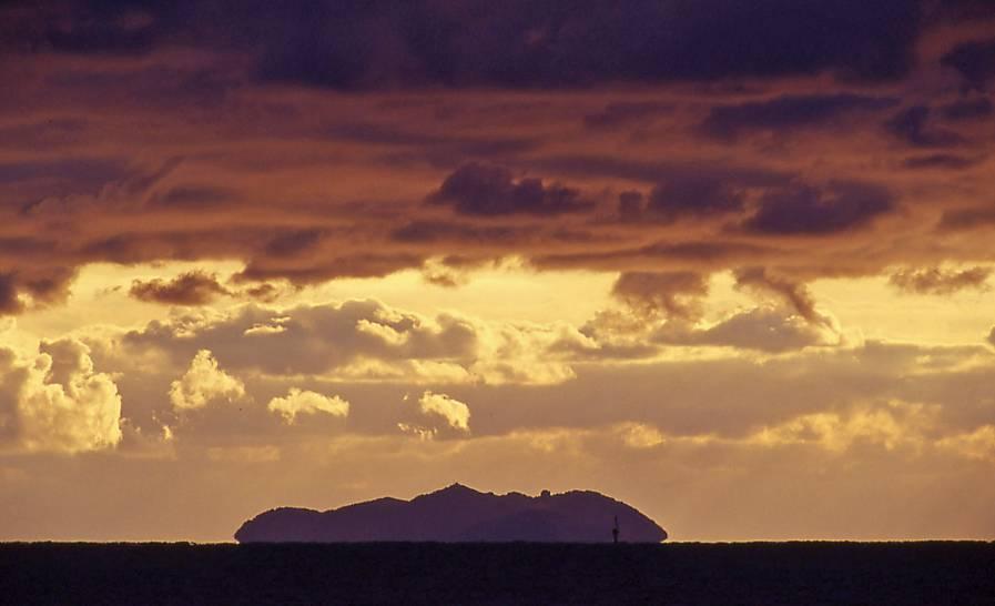 Cielo livornese sull'Isola di Gorgona